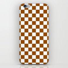 Checker (Brown/White) iPhone & iPod Skin