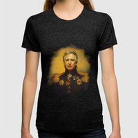 Alan Rickman - replaceface Womens Fitted Tee Tri-Black SMALL