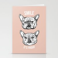 Smile It's Friday Frenchie Stationery Cards