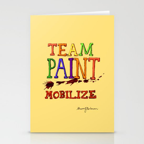 TEAM PAINT MOBILIZE Stationery Card