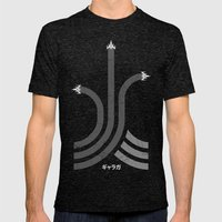 Galaga Mens Fitted Tee Tri-Black SMALL