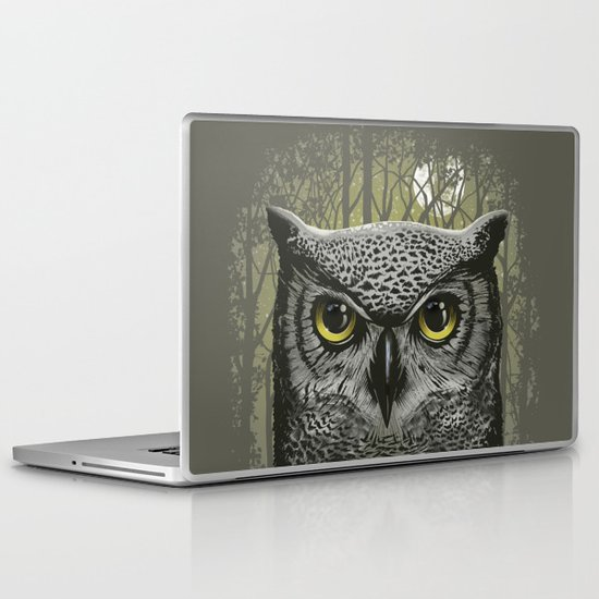 Moon Owl Laptop & iPad Skin