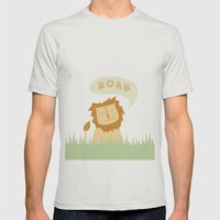 Roar! Mens Fitted Tee Silver SMALL