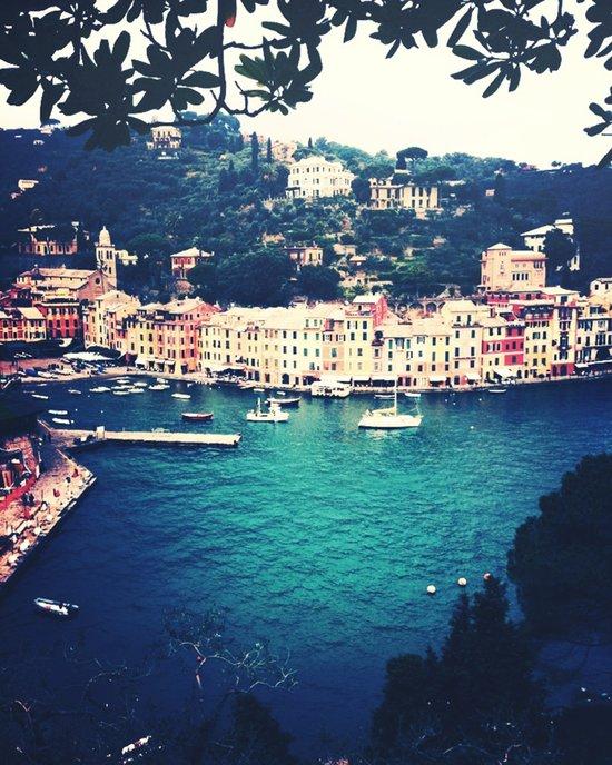 A vintage day in Portofino Art Print