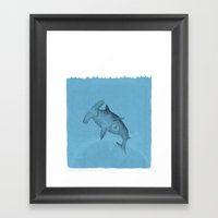 hammer shark Framed Art Print