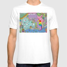 Sea White Mens Fitted Tee SMALL