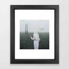 All white Framed Art Print