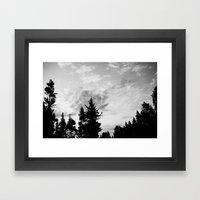 MORNING WOOD Framed Art Print