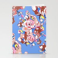 Blue Textile Stationery Cards