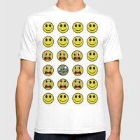 Attack of the Zombie smiley! Mens Fitted Tee White SMALL