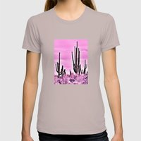 Wild Cactus Womens Fitted Tee Cinder SMALL