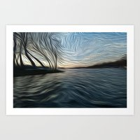 Lost In The Waves Art Print
