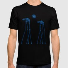 Dali's Mechanical Elephants - Blue Sky SMALL Black Mens Fitted Tee