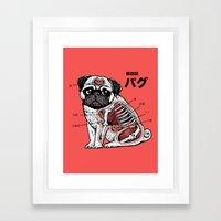 Pug Anatomy Framed Art Print