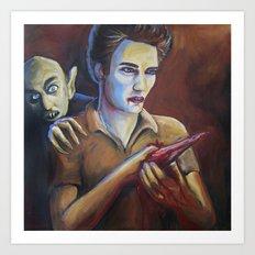 The Assassination of Edward Cullen by the Coward Nosferatu Art Print