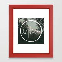 Explore Oregon Forest Framed Art Print