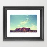 Ayes Rock - Australia Framed Art Print