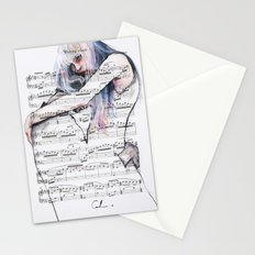 Waiting Place on sheet music Stationery Cards