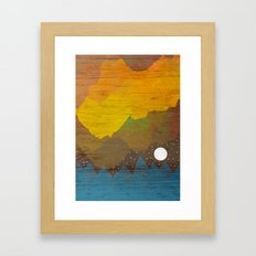 Cloudy Sea Framed Art Print