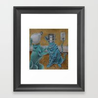 CatDog Framed Art Print