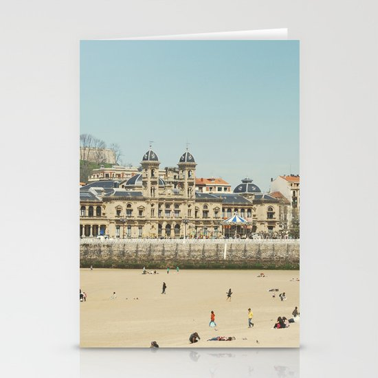 The City Hall and The Beach Stationery Card