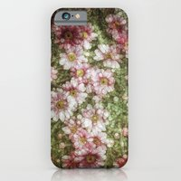 iPhone Cases featuring Shabby Mosaic Daisies by Joke Vermeer
