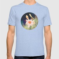 Pink Daylily Mens Fitted Tee Tri-Blue SMALL