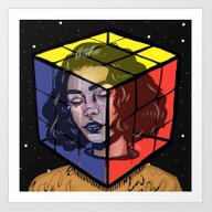 Art Print featuring Puzzled by FoxyFries