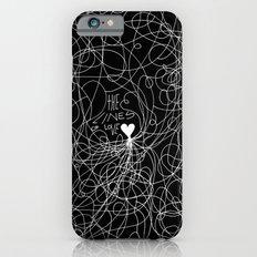 The lines of Love - Black version. Slim Case iPhone 6s