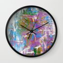 Sky Dive - colorful abstract painting. Wall Clock