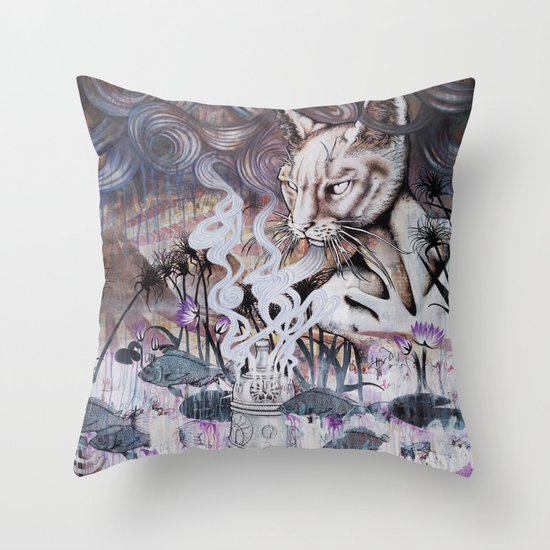 The Myth of Power Throw Pillow