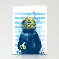 Wild Diver Stationery Cards