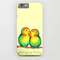 iPhone & iPod Case featuring Love Birds on a Branch by MyCrayons