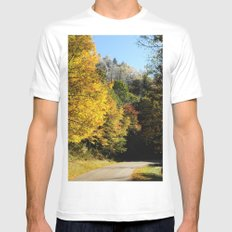 Down this road Mens Fitted Tee SMALL White