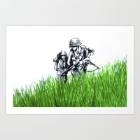 Marines Art Print
