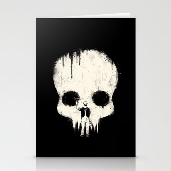 Paint it Black Stationery Card