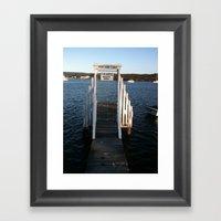 Wharf Walk Framed Art Print