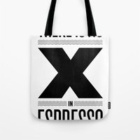 No X in Espresso – Black Tote Bag