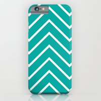 Aqua Chevron iPhone 6 Slim Case