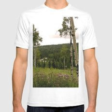 Spring in WaterValley White Mens Fitted Tee SMALL
