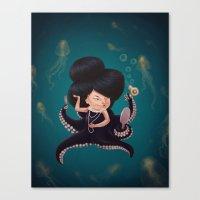 Octo Girl Canvas Print