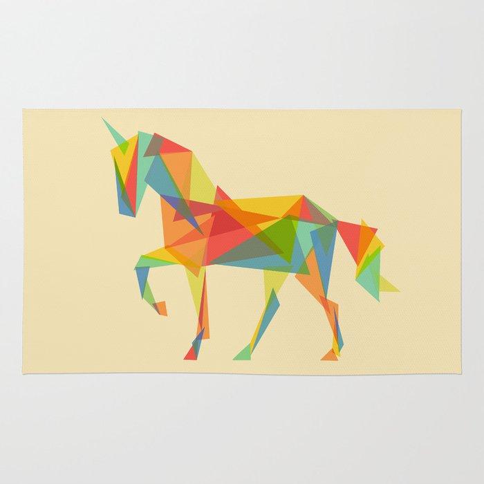 Fractal Geometric Unicorn Rug By Picomodi Society6