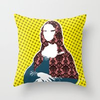 Mona Lisa SW+C X2 Throw Pillow