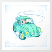 We're Doing Donuts!  Art Print