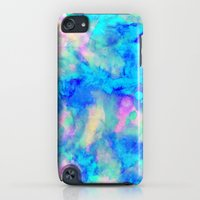 iPod Touch Cases featuring Electrify Ice Blue by Amy Sia