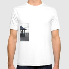 End Of The Pier Mens Fitted Tee SMALL White