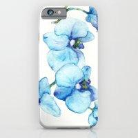 Blue Orchids - Watercolo… iPhone 6 Slim Case