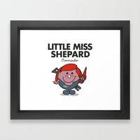 Little Miss Shepard Framed Art Print