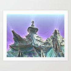 Ice Dragons Keep / / #fractal #fractals #3d Art Print