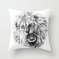 Lion roar G141 Throw Pillow